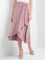 Drapey wrap midi skirt