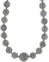 "Lagos Sterling Silver Caviar Lattice Ball Necklace, 17"""