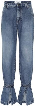 Loewe Tie-Cut high-rise boyfriend jeans