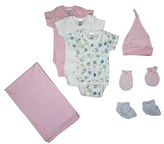 Bambini Newborn Baby Shower Layette Gift Set, 7pc (Baby Girls)