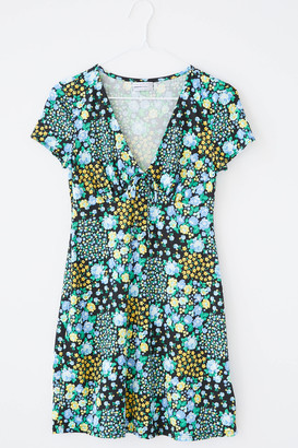 Urban Outfitters Becca Plunging Tie-Front Mini Dress