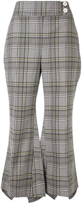 Eudon Choi Postell checked cropped trousers