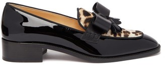 Christian Louboutin Carmela Leopard-print Pony Hair & Leather Loafers - Black