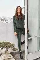 Ragdoll LA VELOUR HIGH WAISTED TRACK PANTS Dark Green