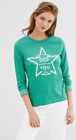 Esprit EDC - Slogan sweatshirt w ribbed texture