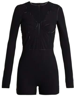 Maison Margiela Panelled Bodysuit - Womens - Black