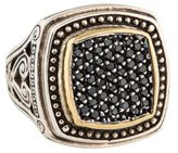 Konstantino Pavé Diamond Asperi Square Face Ring