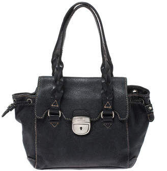Aigner Black Leather Small Satchel