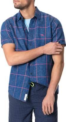 Rodd & Gunn Tucker Road Regular Fit Short Sleeve Button-Up Linen Blend Shirt
