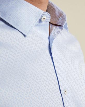 Ted Baker NEVERR Cotton jacquard print shirt