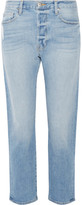 Frame Le Original High-rise Straight-leg Jeans - Mid denim