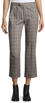 Isabel Marant Nerys Plaid Crop Pants, Gray