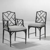 Eichholtz Dixon Slat Back Arm Chair in Black