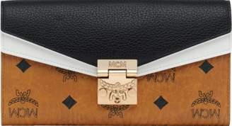 MCM Patricia Crossbody Wallet In Visetos Leather Block