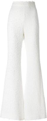 Balmain Boucle Tweed Flared Trousers