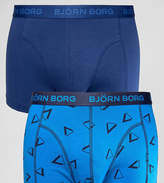 Bjorn Borg 2 Pack Trunks with Triangle Print