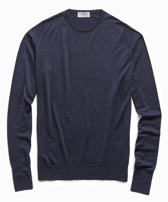 John Smedley Sweaters Easy Fit Merino Crew in Midnight