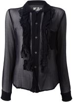 Comme des Garcons sheer ruffled blouse