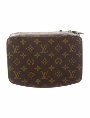 Louis Vuitton Monogram Monte Carlo 22 Jewelry Case Brown