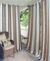 """Elrene Aiden Stripe 52"""" x 108"""" Indoor/Outdoor Grommet Panel with 50+ Uv Protection"""