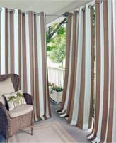 """Elrene Aiden Stripe 52"""" x 95"""" Indoor/Outdoor Grommet Panel with 50+ Uv Protection"""