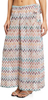 Missoni Mare Wide-Leg Chevron Coverup Trousers