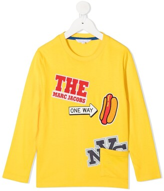 The Marc Jacobs Kids Graphic Print Long-Sleeve Top
