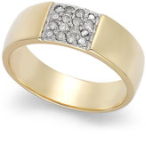 Townsend Victoria Diamond Band Ring in 18k Gold over Sterling Silver (1/10 ct. t.w.)