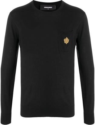 DSQUARED2 Logo-Applique Crew Neck Sweater