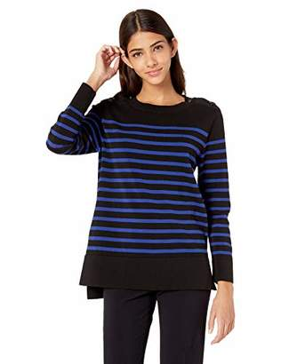 Anne Klein Women's Crew Neck Sailor Sweater TOP