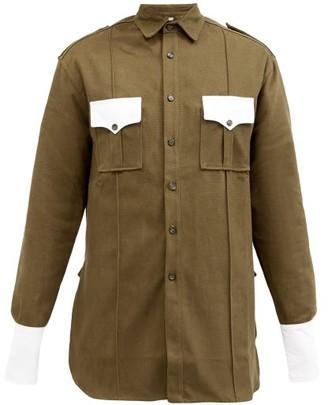 Boramy Viguier Patch-pocket Cotton-canvas Shirt - Khaki