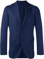 Lardini fitted blazer - men - Polyester/Wool - 52