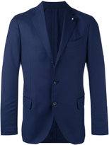 Lardini fitted blazer - men - Wool/Polyester - 52