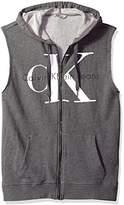 Calvin Klein Jeans Men's Reissue Full Zip Sleeveless Ck Logo Hoodie