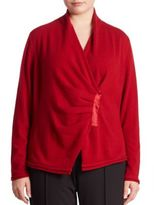 Lafayette 148 New York, Plus Size Cashmere Gathered Asymmetrical Sweater