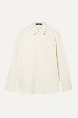 Theory Cotton-blend Twill Shirt - Ivory
