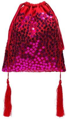 ATTICO sequin drawstring pouch bag