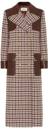 Gucci Checked wool-blend coat