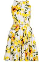 Quiz *Quiz White And Lemon Skater Dress