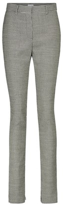 Magda Butrym Houndstooth high-rise slim pants