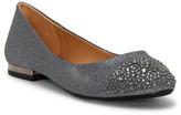 Jessica Simpson Genia Crystal Cap Toe Flat