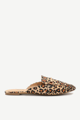 Ardene Faux Leather Leopard Mules