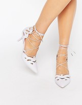 Asos SIREN Lace Up Pointed Heels