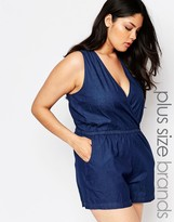 NVME Plus Romper With Wrap Front In Chambre