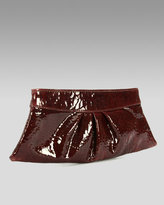 Eve Patent Clutch, Burgundy