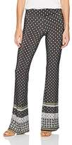 Amy Byer A. Byer Juniors Border Print Knit Flare Pant, Color, L