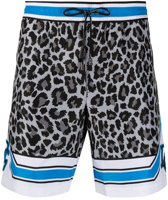 Dolce & Gabbana Leopard Print Swimming Trunks
