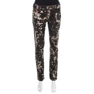 Dolce & Gabbana Black Splatter Print Distressed Denim Cute Skinny Jeans S