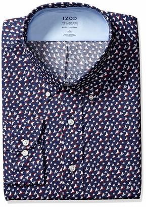 Izod Men's Big FIT Dress Shirts Stretch Cool FX Print