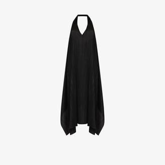 Pleats Please Issey Miyake Halterneck Plisse Midi Dress